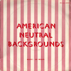 American Neutral Backgrounds No. 1 cover art.