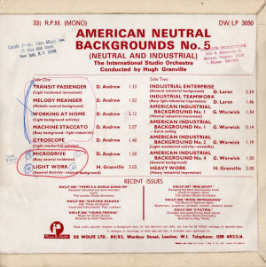 American Neutral Backgrounds No. 5 - Back cover art.