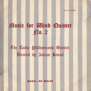 Music For Wind Quintet No. 2 cover art.
