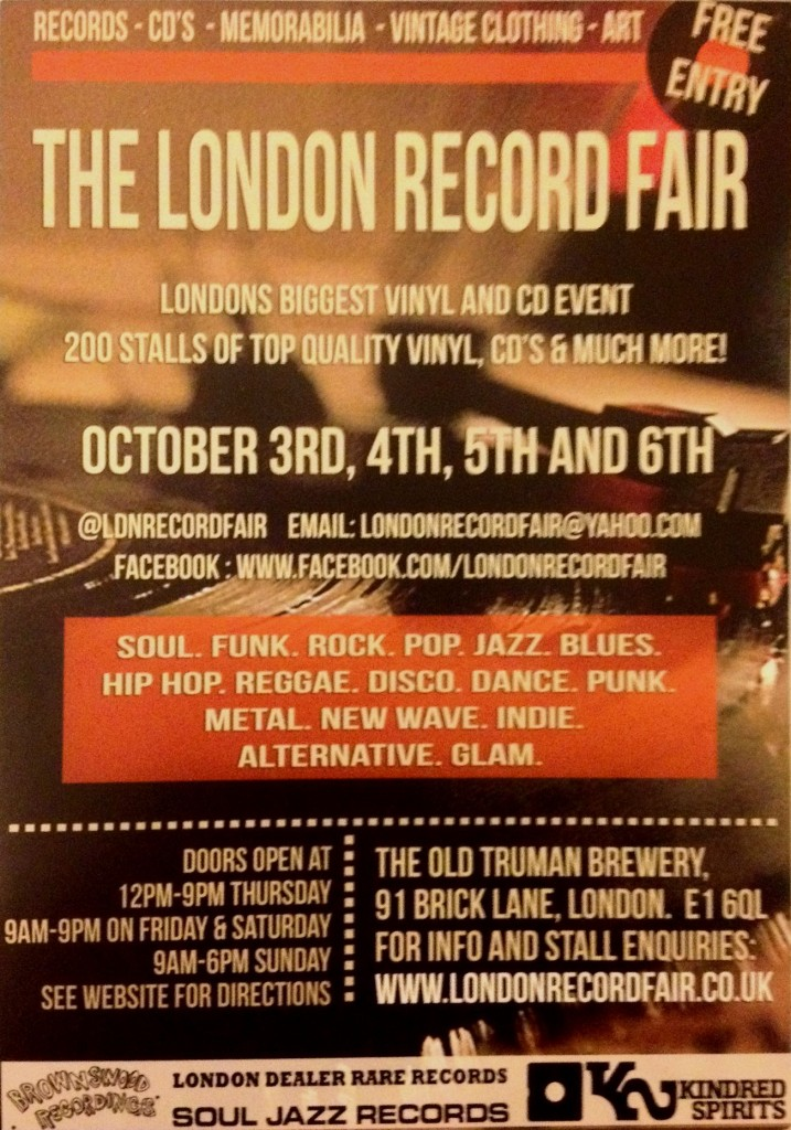 London Record Fair Flyer